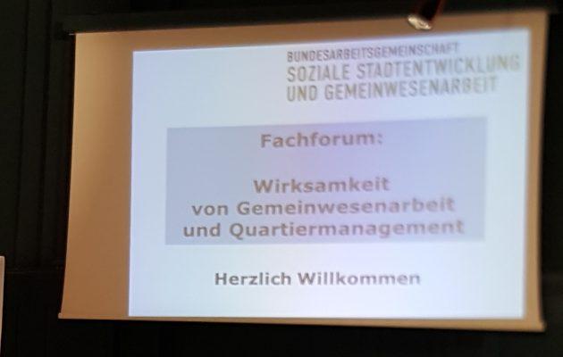 """Fachforum """"Wirksamkeit von Gemeinwesenarbeit und Quartiermanagement"""""""